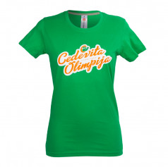 Women's T-shirt retro writing Cedevita Olimpija