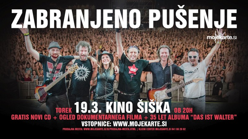 Tickets for ZABRANJENO PUŠENJE v ŠIŠKI, 19.03.2019 on the 20:00 at Kino Šiška
