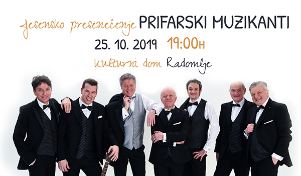Tickets for JESENSKO PRESENEČENJE Prifarski muzikanti, 25.10.2019 on the 19:00 at Kulturni dom Radomlje