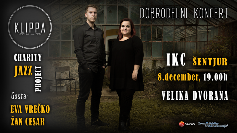 Vstopnice za Klippa: Charity Jazz Project, 08.12.2017 ob 19:00 v Ipavčev kulturni center