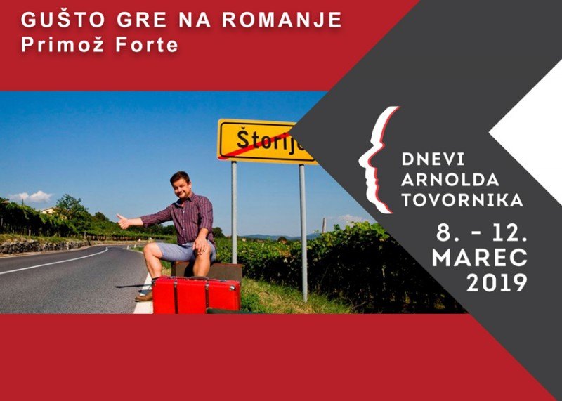 Tickets for GUŠTO GRE NA ROMANJE - monokomedija, 09.03.2019 on the 19:00 at Hram kulture Arnolda Tovornika