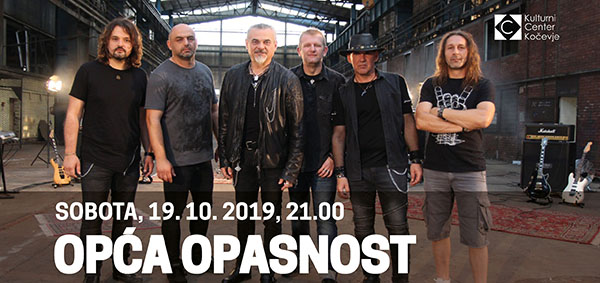 Tickets for Opća opasnost, 19.10.2019 on the 21:00 at Dvorana KCK Kočevje