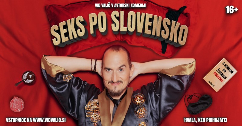 Tickets for VID VALIČ: SEKS PO SLOVENSKO, 30.01.2020 on the 19:30 at Kulturni center Laško
