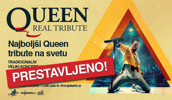 Tickets for QUEEN REAL TRIBUTE, 17.04.2020 um 21:00 at Loški pub, Škofja Loka