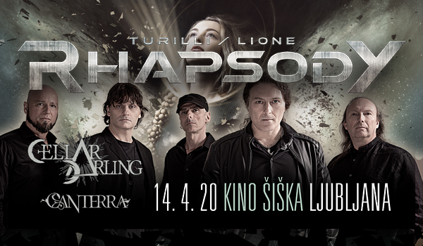 Tickets for TURILLI / LIONE RHAPSODY; Special Guests: CELLAR DARLING, CANTERRA, 14.04.2020 um 20:00 at Kino Šiška, Ljubljana
