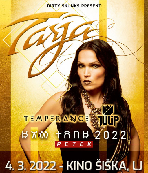 Tickets for TARJA - Raw tour 2022, 04.03.2022 um 20:00 at Kino Šiška, Ljubljana