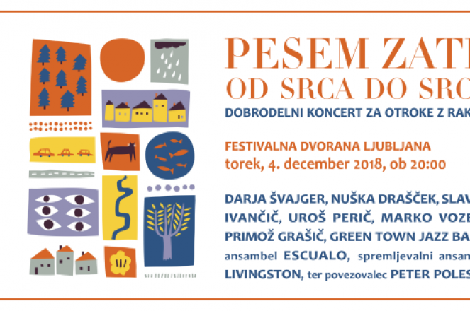 Tickets for Pesem zate od srca do srca, 04.12.2018 on the 20:00 at Festivalna dvorana, Ljubljana